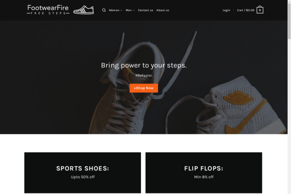 FootwearFire.com - FootwearFire.com - Automated Dropshipping Business - No Reserve - +$1000 Worth
