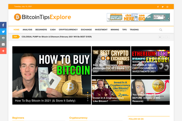 BitcoinTipsExplore.com - Fully Automated Bitcoin Website - Top Profitable Business, No Experience Needed