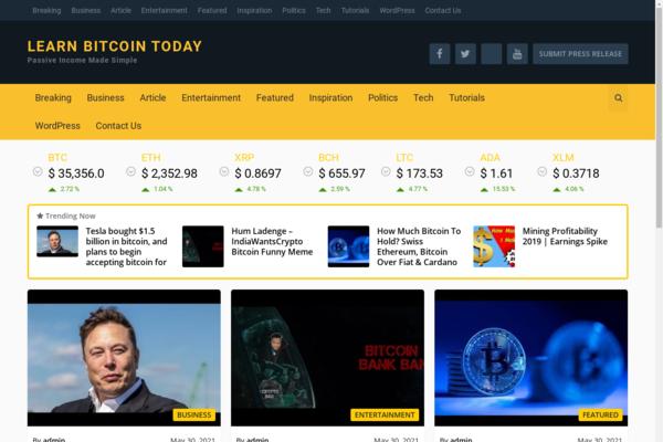 cryptonewsmonoy.com - Bitcoinnewsbiz.com is a blockchain and cryptocurrency news publishing platform