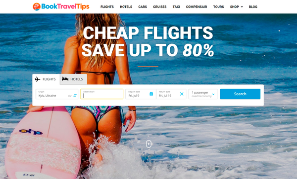 BookTravelTips.com - Automated Travel Site For Passive Income, Earn Up To $10k/mo on Flights, Hotels