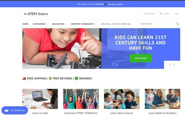 The STEM Store - A profitable 4 years old educational and STEM toys e-commerce with growing sales, particularly in the B2B US school's niche.