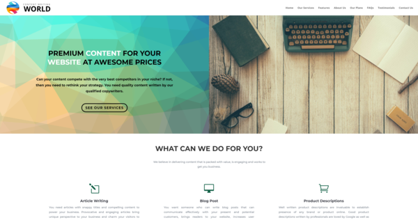 ContentWritingWorld.com - Content Writing Business, Newbie Friendly, Pandemic Proof, Outsourced, Profit - $613 per/mo, BIN Bonus - Buy It Now And Get 2 Free Sites, US Business Database