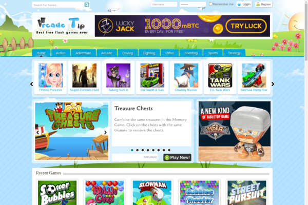 Arcade Tip - Fully Automated Flash Gaming Site. Killer Design. Ads Ready. Passive Profit!