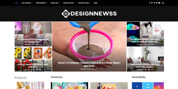 designnewss.com - 100% Fully Automated Video Blog Design & Art, Shop - Free Hosting