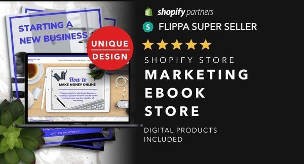 MarketingTimeOnline.com - Ecommerce Shopify Starter Store For Sale Specialising in Marketing Niche