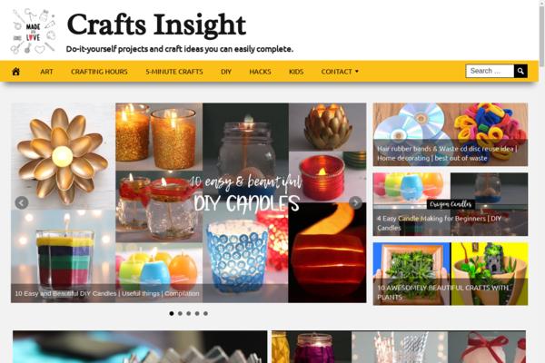 CraftsInsight.com - Crafts and Arts Website - Killer Design - Fully Automated -Ads, Amazon, CB