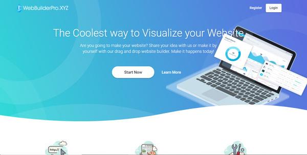 webbuilderpro.xyz - WIX like SaaS Business with Drag and Drop Website Builder