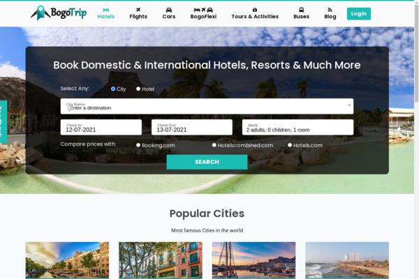 bogotrip.com - Book Budget Hotels, Flights, Cabs and Activities