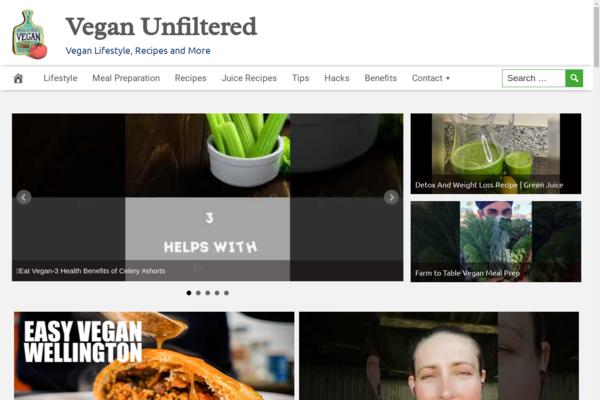 VeganUnfiltered.com - Popular Vegan Niche - High CTR Design - BIN Bonus - Fully Automated