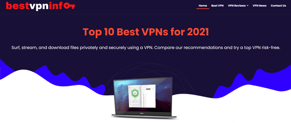 bestvpninfo.com - Premium Designed VPN Reviews Affiliate Website. Earning per click Up To 190$. Great passive income opportunity! Potential Earning up to 10,000/month.