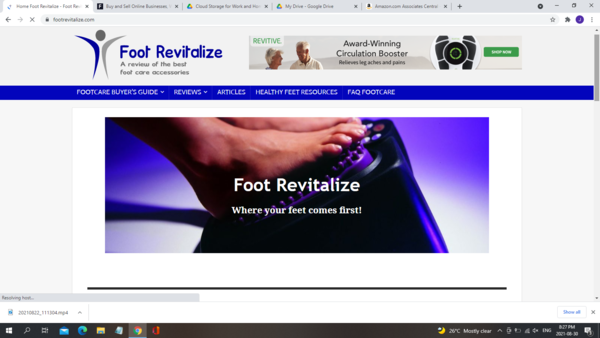 footrevitalize.com - Marketplace / Health and Beauty