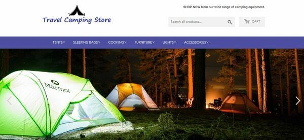 TravelCampingStore.com - Professional Dropship Camping Store with Domain Worth $960