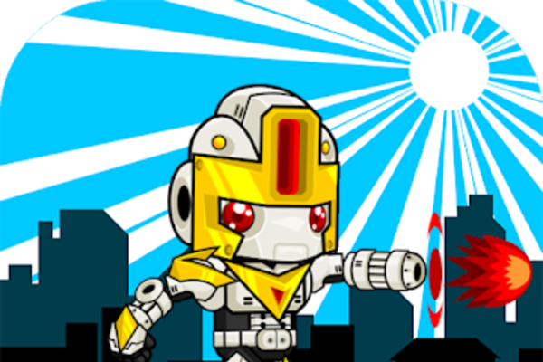 Robot Runner Shooter - Get paid for Ads $$$ make more money with admob