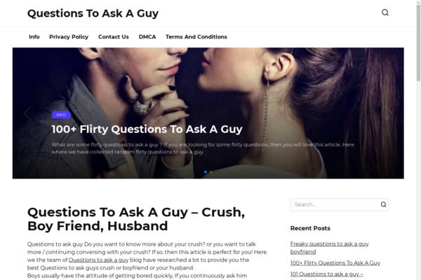 questionstoaskaguydirty.com - Family, relationships. 2016 site on WordPress. Traffic USA Google.