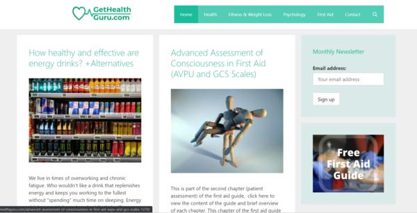gethealthguru.com - A 6-years old medicine and health blog, made for AdSense monetization.