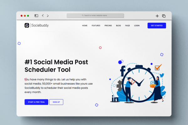 Social Buddy - All in One Social Media Post Scheduler Tool With 50+ registered users. Most profitable SAAS business - Earn recurring money with this SAAS automated business.