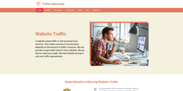 TrafficDelivered.com - PROFITABLE WEBSITE TRAFFIC RESELLER BUSINESS - Made $1578 in 2 Months. Fully Outsourced & Recession Proof Biz. Suppliers & Marketing Guide Included