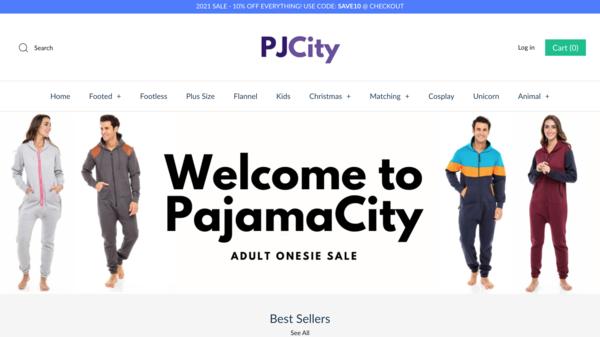 pajamacity.com - e-Commerce / Lifestyle