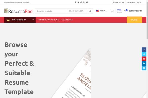 ResumeRed.com - Turnkey Resume Template Store Business - Membership   Huge BIN Bonus