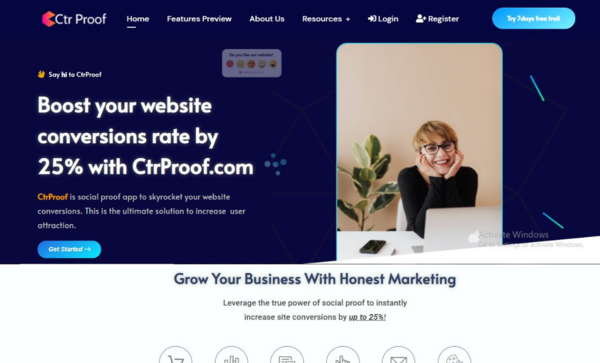 ctrproof.com - Best Social Proof SaaS Platform to increase Website Conversion Rate | FOMO