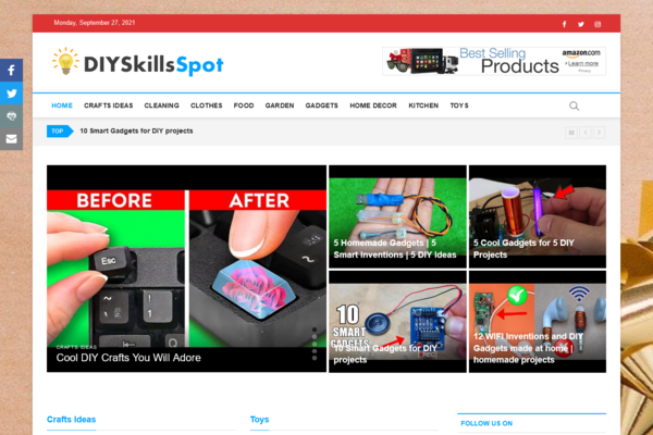 DIYSkillsSpot.com - 100% Automated DIY Website - Great Profitable Online Business - Easy to Manage - Huge Potential