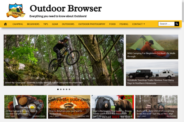 OutdoorBrowser.com - Outdoors Website, Premium Design, Fully Automated, Amazon, CB & Ad Income