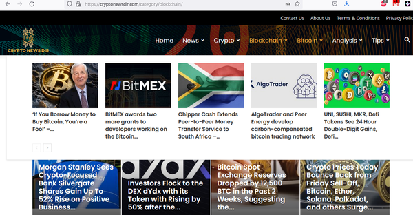 Cryptocurrency News website - Fully automated cryptocurrency News site . No experience needed, new articles added automatically every few hours.Earn on ads from Adsense,Amazon, Ad spaces,