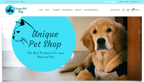 uniquepetshop.com - Automated Store, SEO Backlinks $4,500/Mo Potential, 14-years Domain -NO RESERVE!