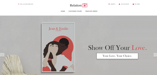 RelationPic™   Perfect Gift Giving Business   100% Unique Product   Business Plan Included - RelationPic.com is a professionally designed, SPEEDY starter store that sells 100% custom matte relationship portrait posters that are handmade by designers!