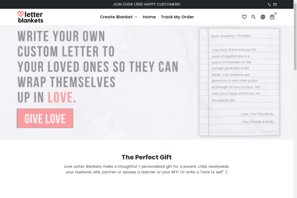 loveletterblankets.com - LoveLetterBlankets, professional AUTOMATED Shopify store selling Custom Blankets