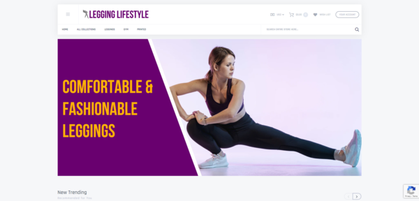 LeggingLifestyle.com - Password : 111, Automated Leggings Dropshipping Business, US Suppliers