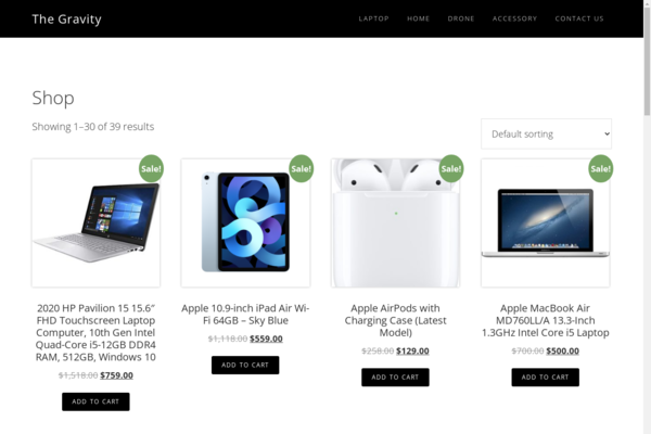 thegravity.store - Fully Automated Ecommerce Electronics Store with facebook group of 50k members