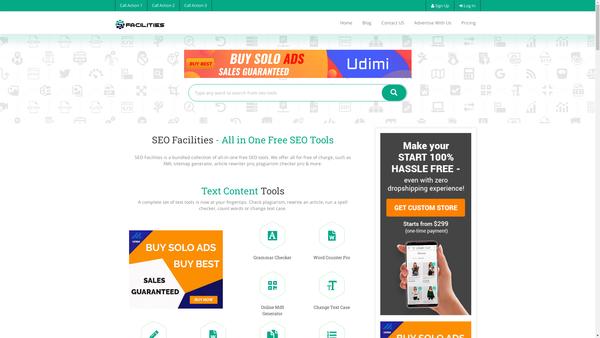 SEOFacilities.com - Hottest Offer: SEO Tools SaaS Platform / 140+ SEO Tools / Premium Subscriptions