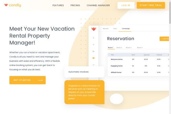 condly.com - Vacation Rental & Hotel Management Software - Ready to onboard clients