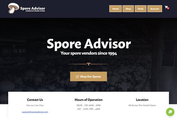 sporeadvisor.com - e-Commerce / Home and Garden