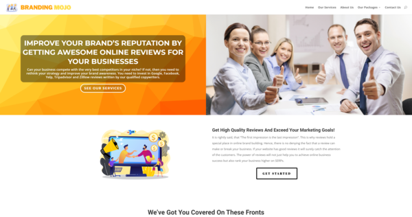 BrandingMojo.com - Online Review Service Business, Newbie Friendly, Fully Outsourced, Net Profit - $794 per/month, BIN Bonus - Buy It Now And Get a Free Site, US Business Database