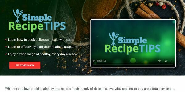 SimpleRecipeTips.com - Cooking and Recipe Book Bundle Store with 8 eBooks, Digital Product for Hands-Off Order Fulfilment, Custom Promo Video & Sales Graphics, WordPress & WooCommerce
