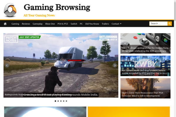 GamingBrowsing.com - Premium Design Gaming News Website - Fully Automated - Amazon & Ad Income