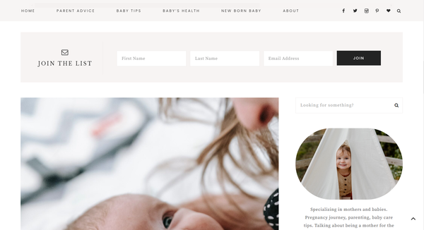 babycaringtips.com - Babycare Niche Blog with a Premium theme| Perfect for both beginner and advanced bloggers to promote more content & earning