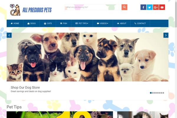 AllPreciousPets.com - High Converting Hot Pet Niche - Premium Design - 100% Fully Automated