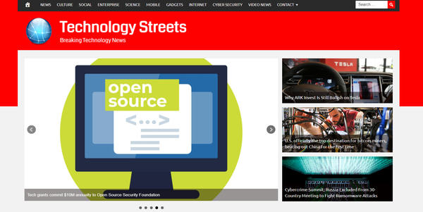 TechnologyStreets.com - Fully Automated Tech News Website - 1 Year Free Hosting BIN + Great Bonuses