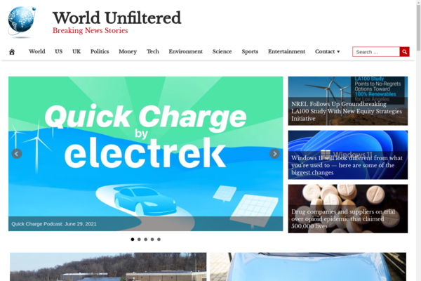 WorldUnfiltered.com - Fully Automated Global News News Site - 1 Year Free Hosting BIN + Great Bonuses