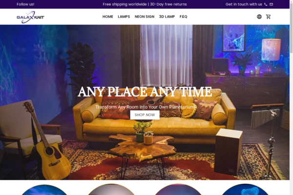 galaxyunit.com - PREMIUM Profitable Home Lighting Decor Huge potential for growth! $3.5k sales