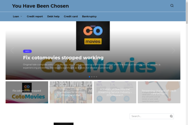 youhavebeenchosen.org - IT, solving problems with a PC. A very old site from 2013, on wordpress.