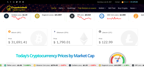 cryptozdesk.com - Crypto is Booming - 100% Automated Cryptocurrency Live Price Index, News & Tools
