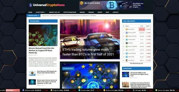 UniversalCryptoNews.com - Autopilot Crypto Bitcoin News Magazine Blog To Make Money Online