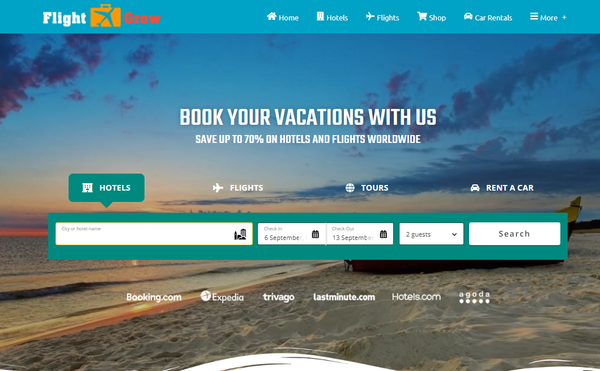 FlightGrow.com - Automated Travel Website, Earn Up To $10k/Mon On Flights, Hotels & Trip bookings