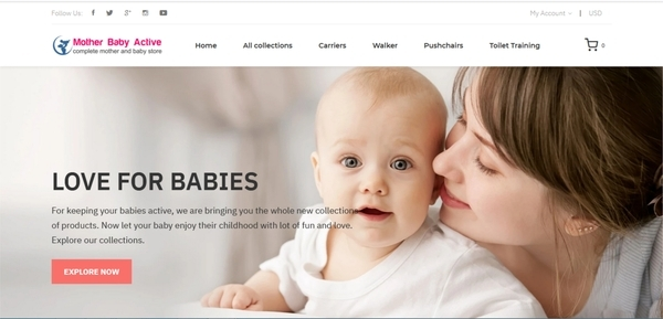 MotherBabyActive.com - Password: flippa, Mother Baby Dropshipping Store, Automated, with SUPPLIERS