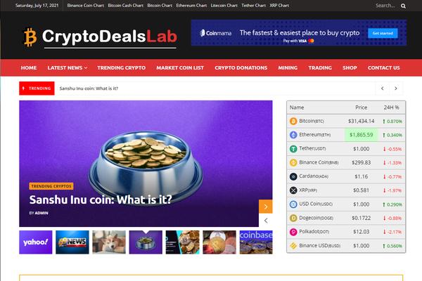 CryptoDealsLab.com - Autopilot Crypto Bitcoin News Blog Passive Income Stream