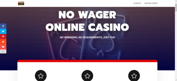 No Wager Casino - Out-of-the-box Casino and Slots affiliate website with premium design and content. Commission of up to 50% revenue share during entire lifetime of your players